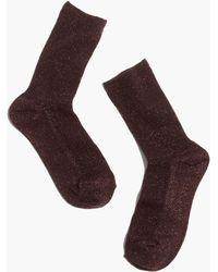 Madewell - Sheer Night Sparkle Trouser Socks - Lyst