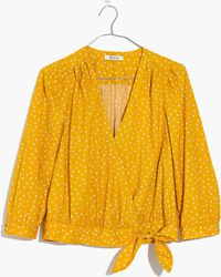 Madewell - Wrap Top In Star Scatter - Lyst