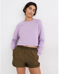 MW - L Airyterry Crop Sweatshirt - Lyst