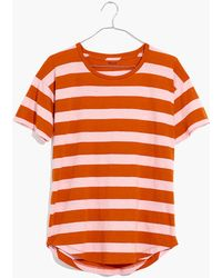 Madewell - Whisper Cotton Crewneck Tee In Rugby Stripe - Lyst