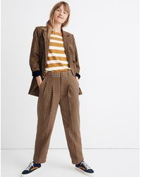Madewell Caldwell Double-breasted Blazer In Desert Check - Natural
