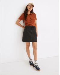 MW Curvy Rigid Denim High-waist Straight Mini Skirt In Berridge Wash - Multicolour