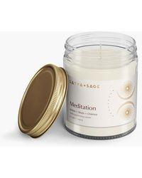 MW Satya + Sage Meditation Candle - White