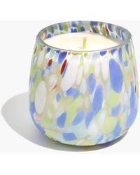 MW Rainbow Terrazzo Glass Candle - Blue