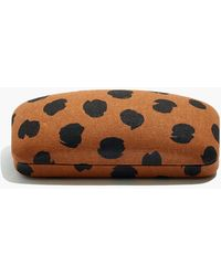 Madewell Painted Spots Sunglass Case - Brown