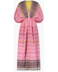 MW - Lemlemtm Neela Plunge-neck Dress - Lyst