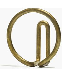 Madewell Newmade La Circle Wire Hook - Metallic