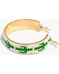 Madewell - Beaded Cactus Cuff Bracelet - Lyst