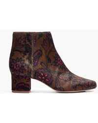 Madewell - The Margot Boot In Floral Calf Hair - Lyst