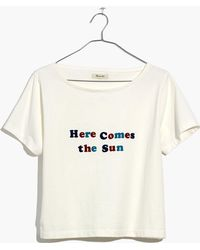 Madewell - Here Comes The Sun Setlist Boxy Tee - Lyst