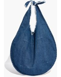 Madewell - Denim Knotted Tote - Lyst