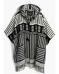 Madewell - Striped Blanket Poncho - Lyst