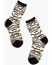 Madewell X Hansel From Basel™ Zebra Sheer Trouser Socks - Black