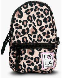 MW Lolatm Jane Stargazer Mini Convertible Backpack In Leopard Print - Black