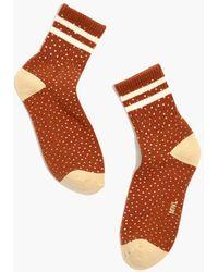 MW Spotted Varsity-stripe Ankle Socks - Multicolour
