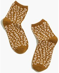 MW Animal Ankle Socks - Metallic