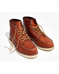 Madewell - Red Wing 6-inch Moc Lace-up Boots - Lyst