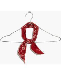 Madewell Silk Skinny Bandana - Red
