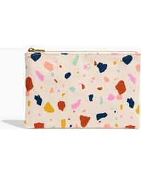 Madewell - The Canvas Pouch Clutch In Terrazzo - Lyst