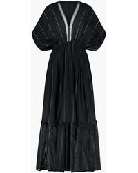 MW - Lemlemtm Tikuri Plunge-neck Dress - Lyst