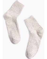 Madewell Rainbow Flecked Ankle Socks - Natural