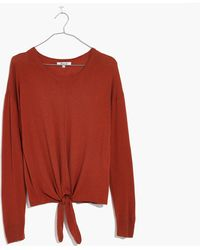 Madewell | Modern Tie-front Sweater | Lyst