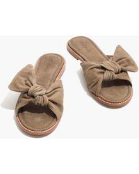 Madewell - The Naida Half-bow Sandal - Lyst