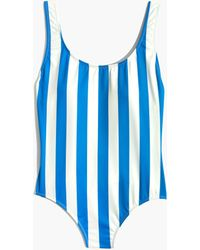 Madewell - Solid & Striped® Anne-marie One-piece Swimsuit In Sea Stripe - Lyst