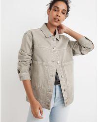 MW Garment-dyed Denim Patch Pocket Trucker Jacket - Multicolor