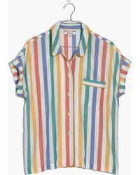 Madewell - Bedtime Pyjama Shirt In Stripe - Lyst
