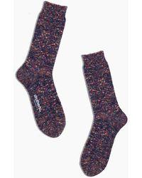MW Drutherstm Recycled Cotton Melange Crew Socks - Purple