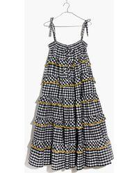 Madewell - Innika Choo Tiered Gingham Avens Dress - Lyst