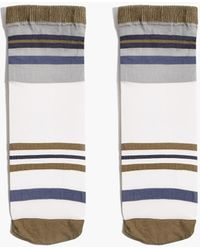 MW Sheer Varsity Stripe Ankle Socks - Multicolour
