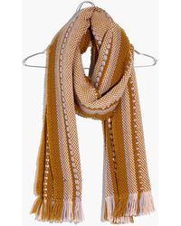 Madewell Chunky Weave Fringe Scarf - Brown