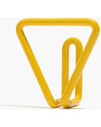 Madewell Newmade La Triangle Wire Hook - Yellow