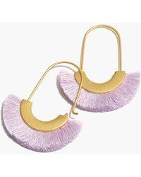 Madewell - Arc Wire Fringe Earrings - Lyst