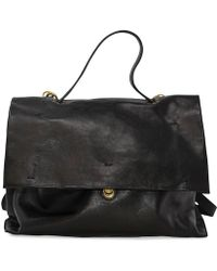 Campomaggi Black Leather Briefcase Bag