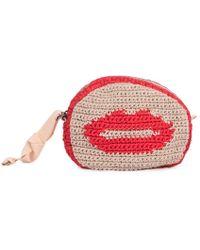 Maria La Rosa Red Smile Isa Cotton Bag