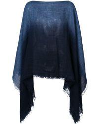Destin Gradient Poncho - Blue