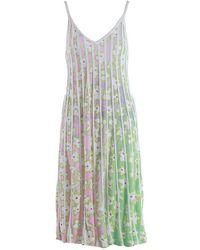 i-am-chen Green Floral Knit Dress