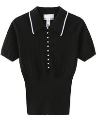 i-am-chen Zi Ii Ci Ien Black Polo Shirt