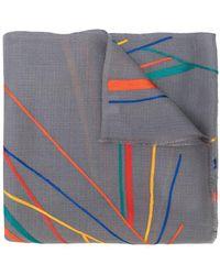 K. Janavi Sunrise Multi Colored Scarf - Gray