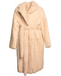 Karl Donoghue Reversible Lambskin Belted Coat - Natural