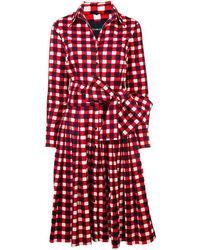 Samantha Sung - Red/indigo Audrey Dress #2 - Lyst