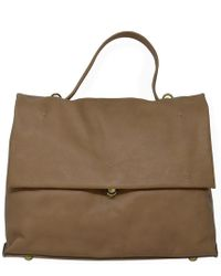 Campomaggi - Beige Leather Briefcase Bag - Lyst