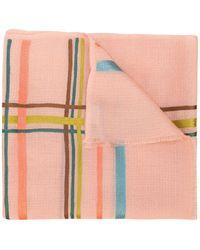 K. Janavi K Janavi Horizontal Stripes Rose Scarf - Pink