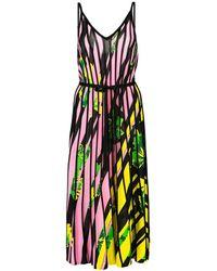i-am-chen Pink Silk Floral Dress
