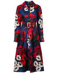 Samantha Sung Indigo/red Poppy Audrey Dress #1