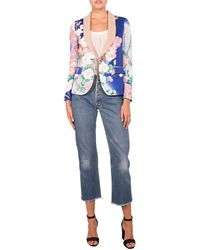 Ibrigu - Floral Blue Kimono Blazer One Of A Kind - Lyst