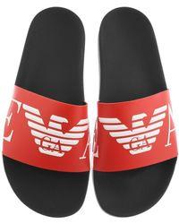 Armani Emporio Logo Sliders - Red